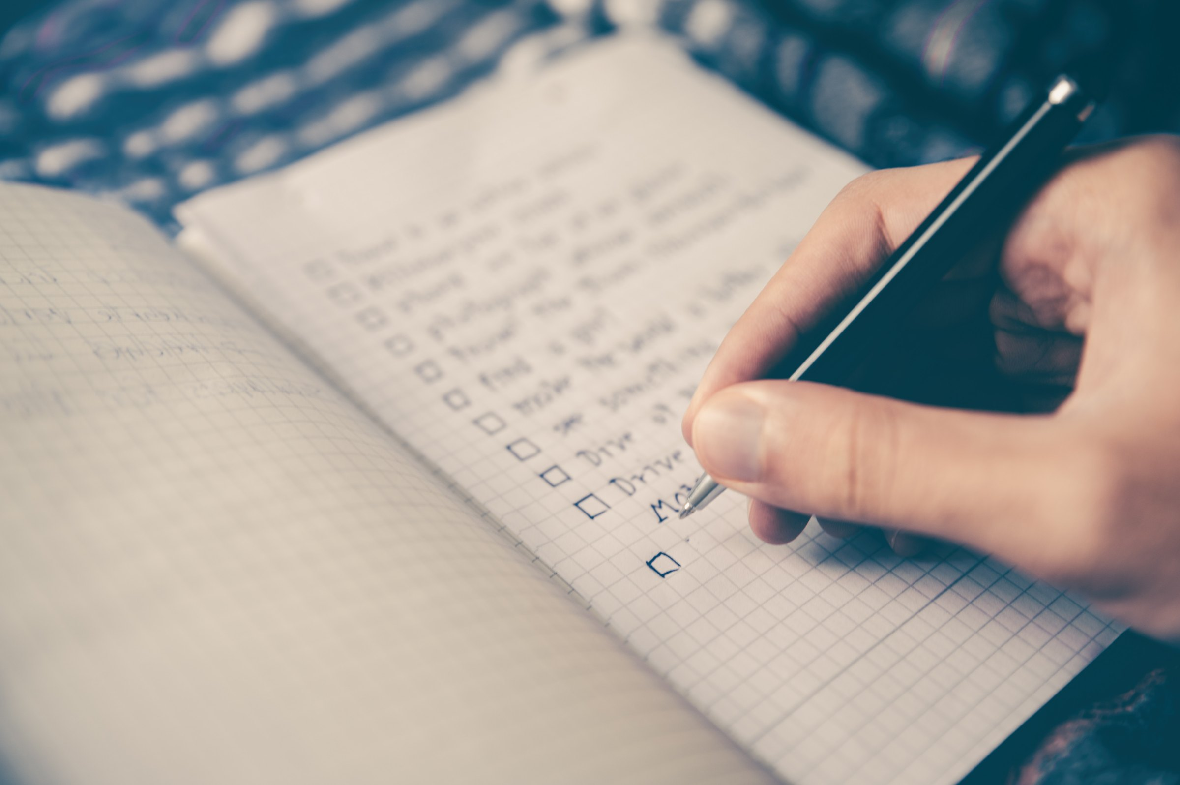 checklist for work management